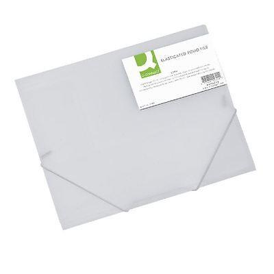 Q-Connect A4 Clear Elasticated Folder KF02315 [KF02315]