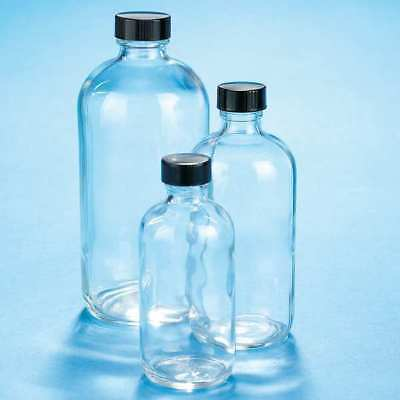 - Boston Bottle,8 oz.,Clear,PK12 KIMBLE 5110824V-21