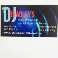 DJ BRADLEY'S SOUND PRODUCTIONS AND UPLIGHTING SERVICES
