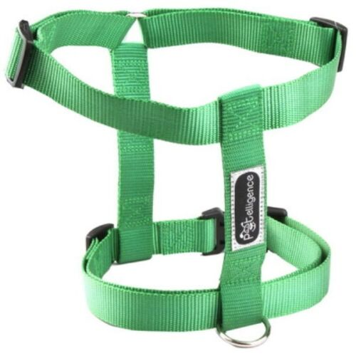 NEW WHOLESALE LOT OF 10 DOG NYLON HARNESSES  SIZE LARGE  COLOR GREEN