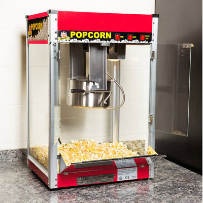 Carnival King Pm50r Royalty Series 12 Oz Red Commercial Popcorn Machine 120 V