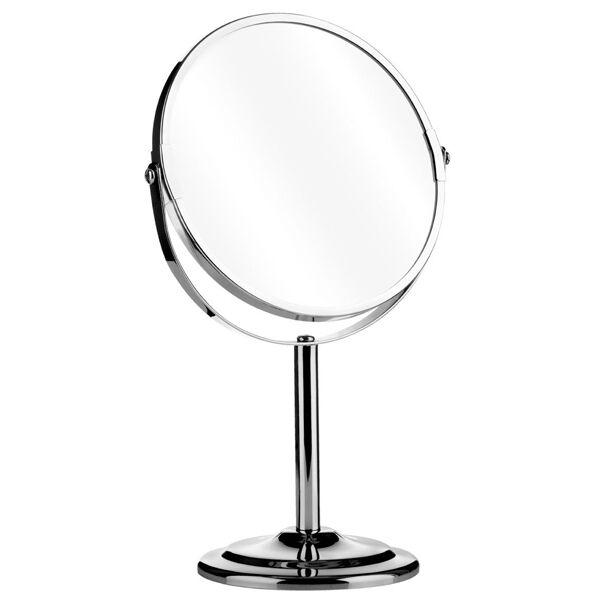 Swivel Chrome Free Standing Vanity, Free Standing Swivel Mirror