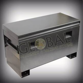 steel job site toolbox , site box , lockable toolbox