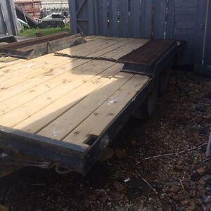 Deck trailer. Tandem 14ft