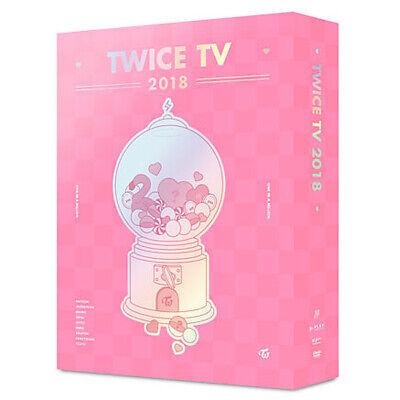 TWICE [TWICE TV 2018] DVD 4 DISC+5ea Photo Card+GIFT CARD+TRACKING K-POP SEALED