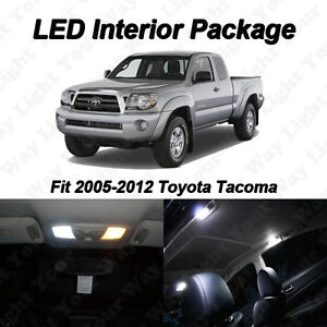 5 Pieces Xenon White LED Lights Interior Package Kit For 2005-2012 Toyota Tacoma