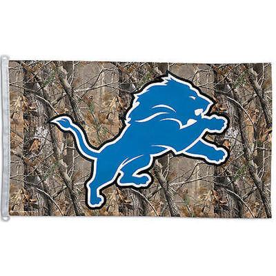 Detroit Lions Camo Flag Large 3x5