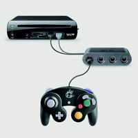 WII U-4X GAMECUBE-ADAPTATEUR MANETTES/CONTROLLERS ADAPTER (NEW)