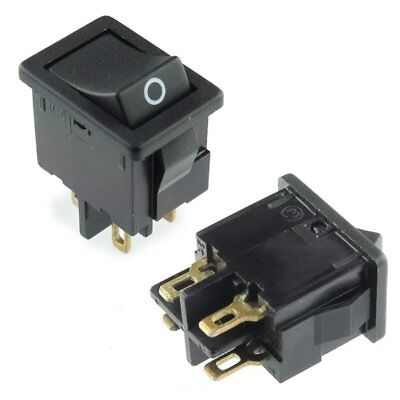 2x Black Rocker Switch Dpst Onoff Snap In Panel Mount 6a 125vac Button - Usa