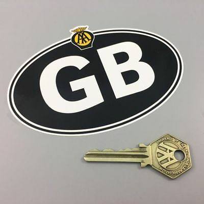 AA GB UK CAR STICKER Self Adhesive Genuine AA Product for Driving to Europe