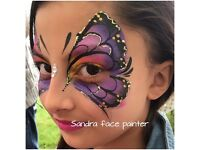 Face painter and glitter tattoos for children's parties and events