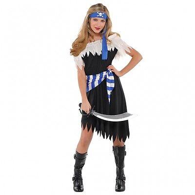 Piratin Kostüm Gr. 158 Pirat Fasching blau Karneval - Blau Pirat Kostüme