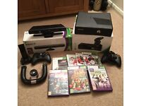 XBOX 360 BLACK 4GB 250GB HARD DRIVE WITH KINECT GAMES AND CONTROLLERS
