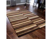 Winslow Abstract Beige Wool Rug 160cm x 230cm