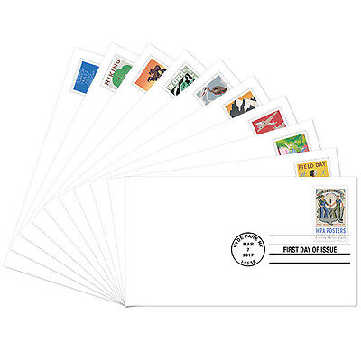 USPS New WPA Posters First Day Covers set of 10