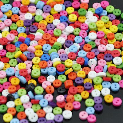 Wholesale 200pcs 6mm Mini Plastic Round 2 Holes Craft Clothe Sewing Button PT38