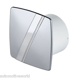 Bathroom extractor fan 100mm 4 timer humidity sensor silver chrome wls100h ebay Humidity activated bathroom fan