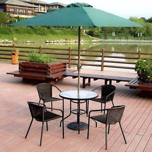Courtyard Rattan Chair Glass Table with Umbrella Outdoor Furnitur Baulkham Hills The Hills District Preview