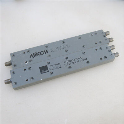 1pc M/A-COM 2090-6214-00 0.5-18GHz SMA RF Coaxial One Minute Splitter