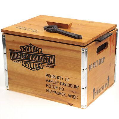 Harley-Davidson 1903 Crate Beer Cooler Vintage Style Bar Gift Set 13.8 x 10