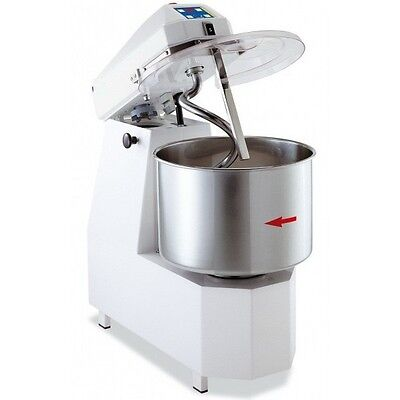 Spiral Dough Mixer 35 Liters - 25kgs 55lb - 2 Speed - With Timer