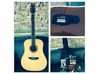Ashton acoustic guitar with built-in tuner