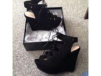 Brand new size 5 wedge heels