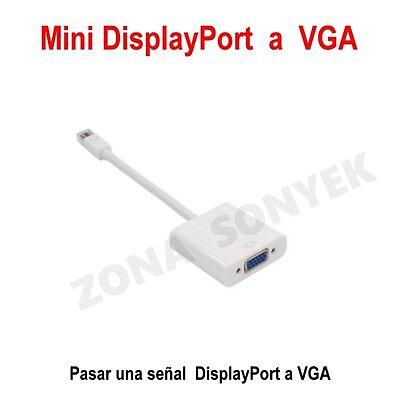 ADAPTADOR Conversor MINI-DISPLAYPORT (MDP) a VGA