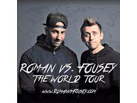 2 x ROMAN ATWOOD vs FOUSEY Tickets - 8th September @ Manchester O2 Apollo