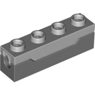 Lego 7x Dark Bluish Gray Spring Shooter w Light Bluish Gray Top Complete