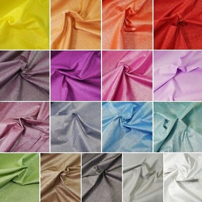100% Cotton Glitter Fabric Sparkle Spangle Crystal Stardust Shimmer