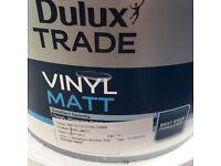 Dulux Matt emulsion white cotton paint 10L