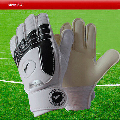 Size 3-7 Child Kids Teens Football Soccer Goalkeeper Goalie Training Gloves Gear