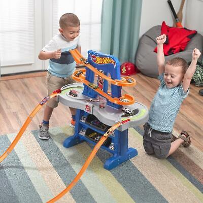 Kids Toy Hot Wheels Road Rally Raceway Race Car Fun Downhill Track w Toy Cars