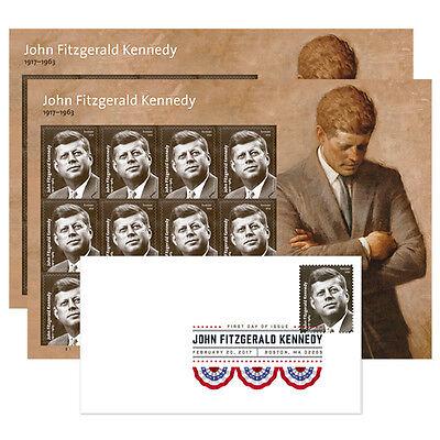 USPS New John F Kennedy Keepsake 2 panes and Digital Color Postmark