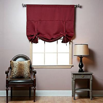 Best Home Fashion Thermal Insulated Blackout Tie-Up Window Shade 42x63