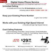 Digital Home Phone Service - Awesome Deal!