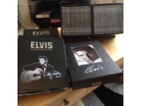 Elvis Presley The Official Collectors Edition dvds and information files an memorabilia