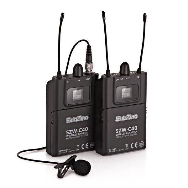 SubZero SZW-C40 Camera Wireless Lavalier Microphone System
