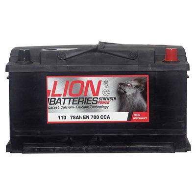 110 Car Battery 3 Years Warranty 80Ah 700cca 12V L315 x W175 x H175mm - Lion 110