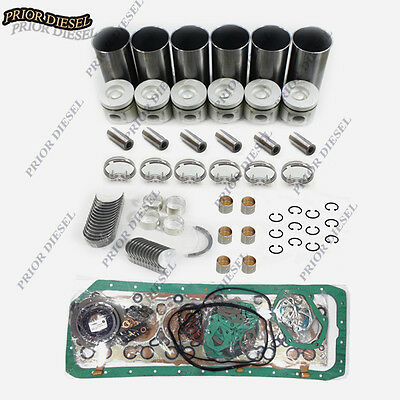 Mitsubishi 6D24 6D24T Engine Overhaul Kit For Hyundai Excavator Crane and Truck