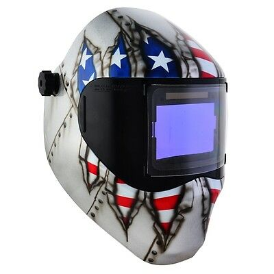 New Save Phace Rfp Welding Helmet E Series 40sq Inch Lens 4 Sensor - Ripped