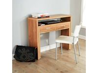 Regis hideaway console desk/table in Oak wood - £70