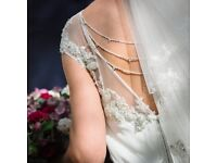 Enzoani Harlem size 14 wedding dress with matching veil and back chain