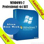 Windows 7 professional licentie + licentie sticker