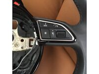 AUDI A3 2013 ON WARDS SPORT LEATHER SPORTS STEERING WHEEL WITH PADDLE SHIFT & MULTI FUBCTION CONTROL