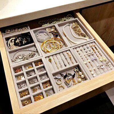 Drawer DIY Jewelry Storage Tray Ring Bracelet Box Organizer Earring Holder NEW](Diy Ring Box)