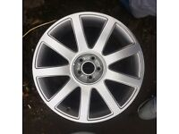 Geniune Audi 9 spoke alloys, also fit vw