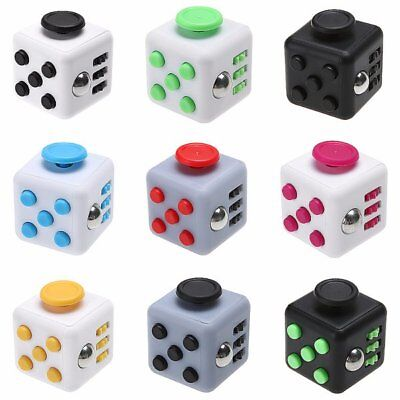 Dice Magic FIDGET CUBE Desk Toy Stress Anxiety Relief Focus Gift Adult Kid USA