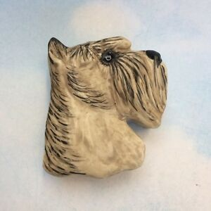 Studio porcelain schnauzer dog trinket box Carol Halmy jewelry
